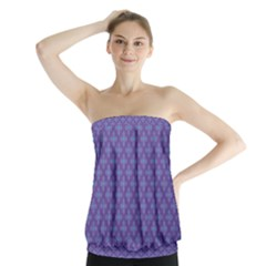 Abstract Purple Pattern Background Strapless Top