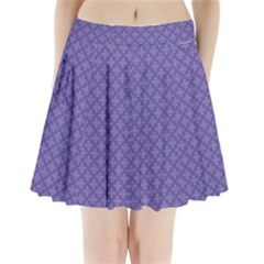 Abstract Purple Pattern Background Pleated Mini Skirt