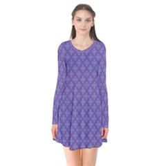 Abstract Purple Pattern Background Flare Dress