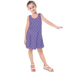Abstract Purple Pattern Background Kids  Sleeveless Dress