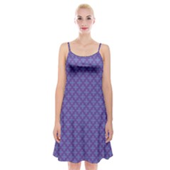 Abstract Purple Pattern Background Spaghetti Strap Velvet Dress