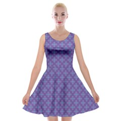 Abstract Purple Pattern Background Velvet Skater Dress