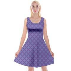 Abstract Purple Pattern Background Reversible Velvet Sleeveless Dress