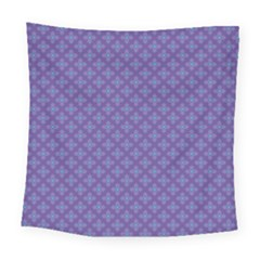 Abstract Purple Pattern Background Square Tapestry (large)