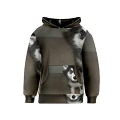 Alaskan Malamute Pup 3 Kids  Pullover Hoodie