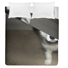 Alaskan Malamute Pup 3 Duvet Cover Double Side (Queen Size)