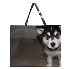 Alaskan Malamute Pup 3 Zipper Large Tote Bag