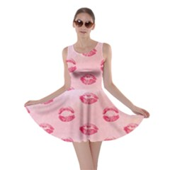 Watercolor Kisses Patterns Skater Dress