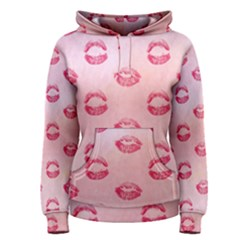 Watercolor Kisses Patterns Women s Pullover Hoodie