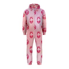 Watercolor Kisses Patterns Hooded Jumpsuit (Kids)