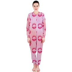 Watercolor Kisses Patterns OnePiece Jumpsuit (Ladies)