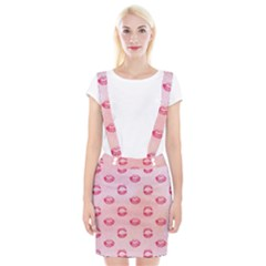 Watercolor Kisses Patterns Suspender Skirt