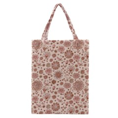 Retro Sketchy Floral Patterns Classic Tote Bag