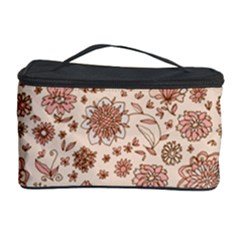 Retro Sketchy Floral Patterns Cosmetic Storage Case