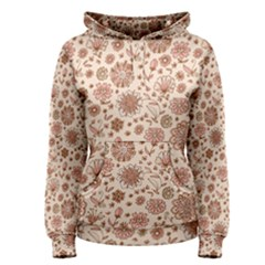 Retro Sketchy Floral Patterns Women s Pullover Hoodie