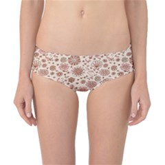 Retro Sketchy Floral Patterns Classic Bikini Bottoms