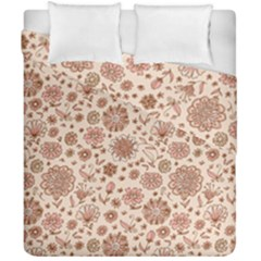 Retro Sketchy Floral Patterns Duvet Cover Double Side (California King Size)
