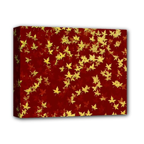 Background Design Leaves Pattern Deluxe Canvas 14  x 11