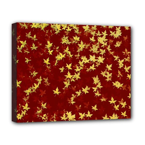 Background Design Leaves Pattern Deluxe Canvas 20  x 16
