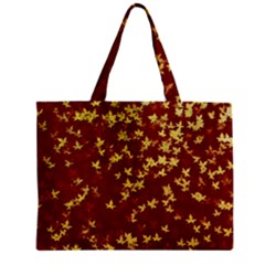 Background Design Leaves Pattern Mini Tote Bag