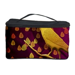 Bird Design Wall Golden Color Cosmetic Storage Case