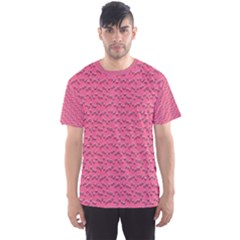Background Letters Decoration Men s Sport Mesh Tee