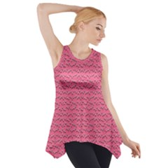 Background Letters Decoration Side Drop Tank Tunic