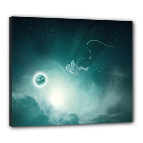 Astronaut Space Travel Gravity Canvas 24  X 20