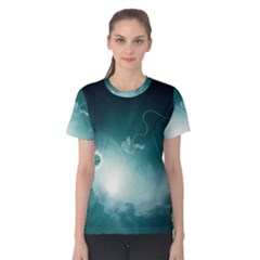 Astronaut Space Travel Gravity Women s Cotton Tee