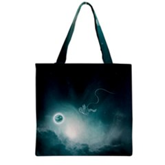 Astronaut Space Travel Gravity Grocery Tote Bag
