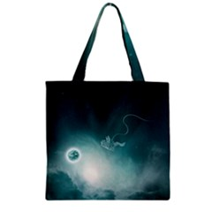 Astronaut Space Travel Gravity Zipper Grocery Tote Bag