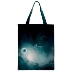 Astronaut Space Travel Gravity Zipper Classic Tote Bag