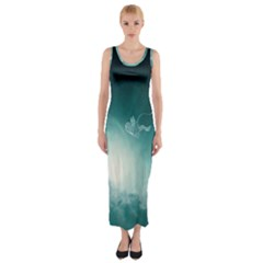 Astronaut Space Travel Gravity Fitted Maxi Dress