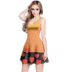 Love Heart Valentine Sun Flowers Reversible Sleeveless Dress