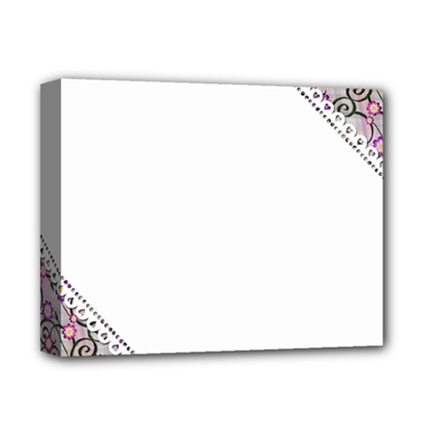 Floral Ornament Baby Girl Design Deluxe Canvas 14  x 11