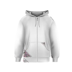 Floral Ornament Baby Girl Design Kids  Zipper Hoodie