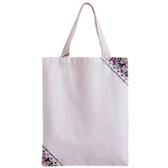 Floral Ornament Baby Girl Design Zipper Classic Tote Bag