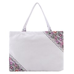 Floral Ornament Baby Girl Design Medium Zipper Tote Bag