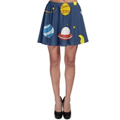 Space Background Design Skater Skirt
