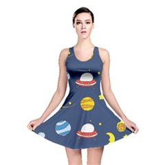 Space Background Design Reversible Skater Dress