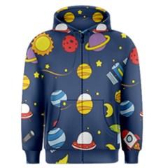 Space Background Design Men s Zipper Hoodie