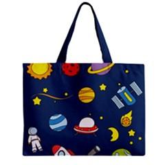 Space Background Design Zipper Mini Tote Bag