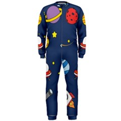 Space Background Design OnePiece Jumpsuit (Men)