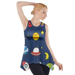 Space Background Design Side Drop Tank Tunic