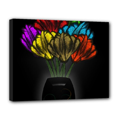 Flowers Painting Still Life Plant Canvas 14  x 11