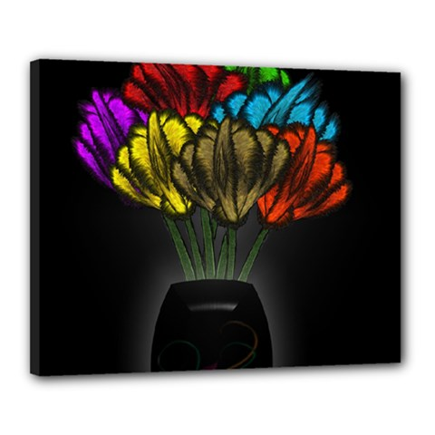 Flowers Painting Still Life Plant Canvas 20  X 16