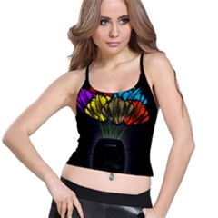 Flowers Painting Still Life Plant Spaghetti Strap Bra Top