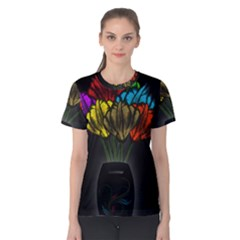 Flowers Painting Still Life Plant Women s Cotton Tee