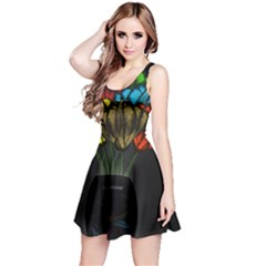 Flowers Painting Still Life Plant Reversible Sleeveless Dress