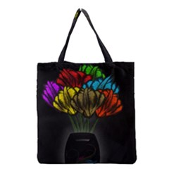 Flowers Painting Still Life Plant Grocery Tote Bag